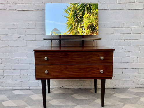 Vintage Small Dressing Table with Mirror by Schreiber #D373