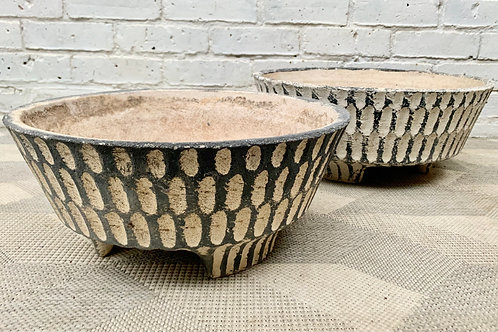 Pair of Mid Century Planters Plant Pots for the Garden #D322