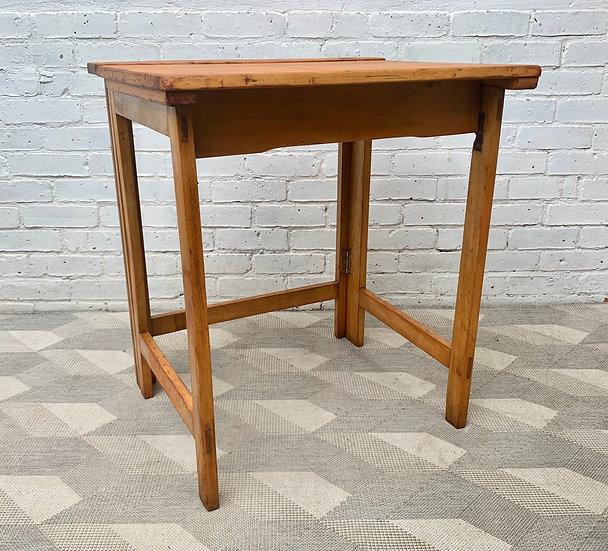 Vintage Folding School Desk Wooden