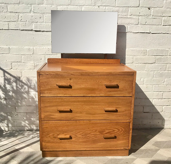 Vintage Chest of Drawers Bedroom Mirror Dressing Table #832