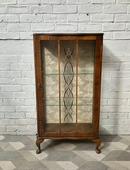Vintage Glass Display Cabinet #838