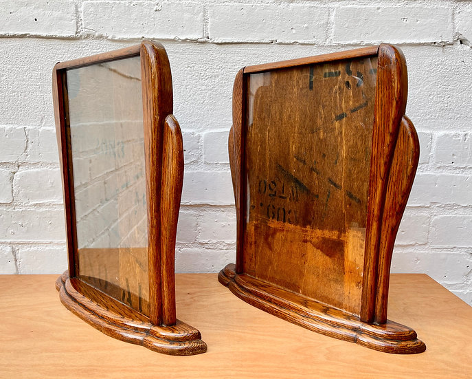 rightPair of Art Deco Wooden Photo Frames