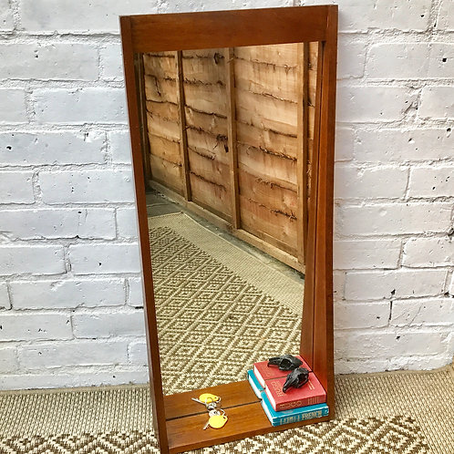 Mid Century Hallway Mirror with Shelf #362