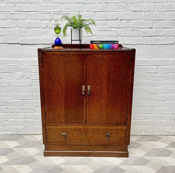 Vintage Art Deco Linen Cabinet Cupboard