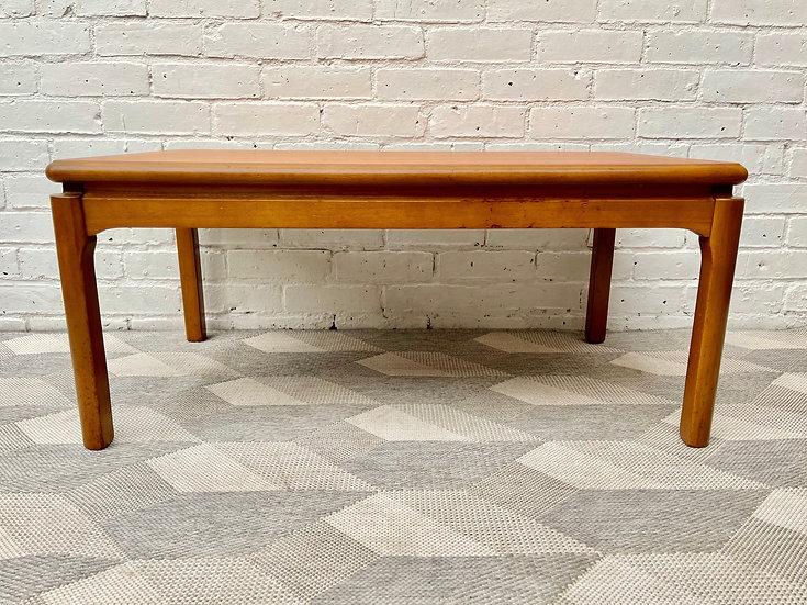 Vintage Teak Coffee Table back