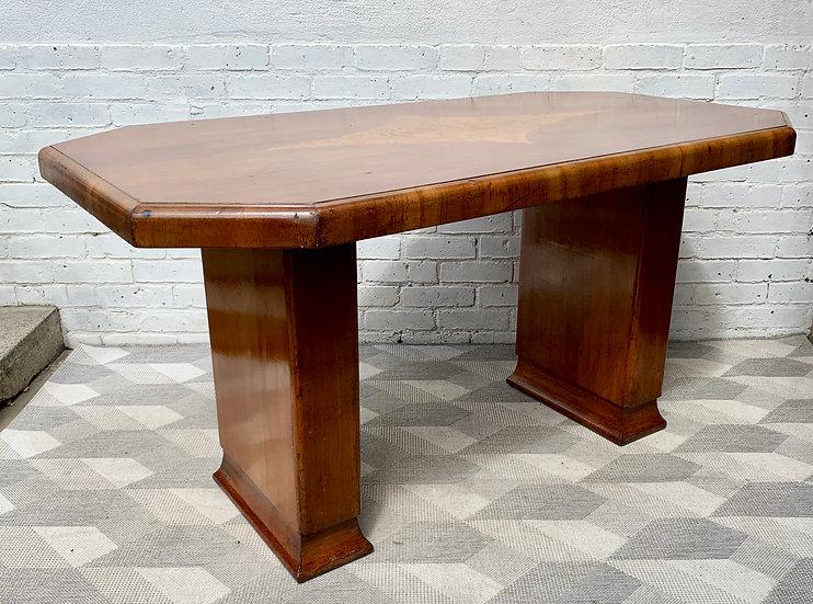 Vintage Dining Table Art Deco Octagonal #D163