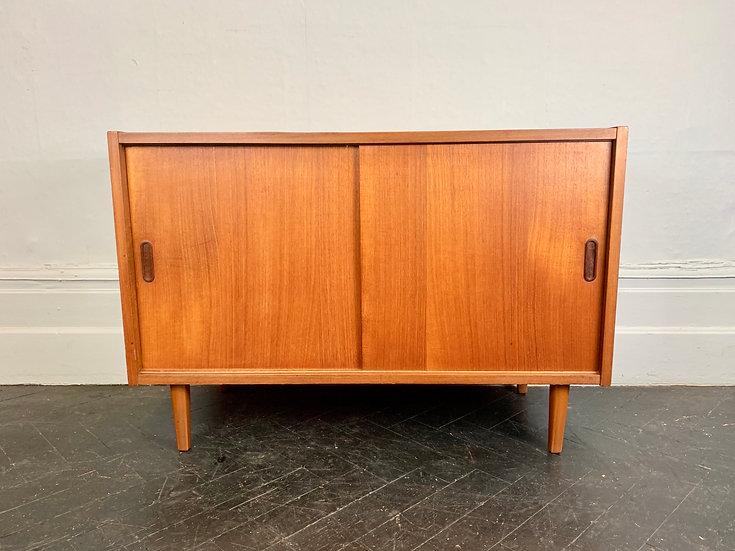 Small Vintage Sideboard Cupboard Teak #D115