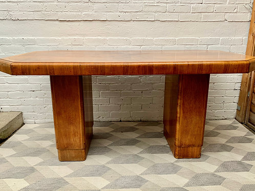 Vintage Art Deco Dining Table Octagonal #D493