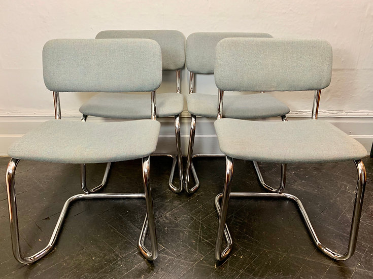 Set of 4 Boardroom Office Chairs Stacking #D73