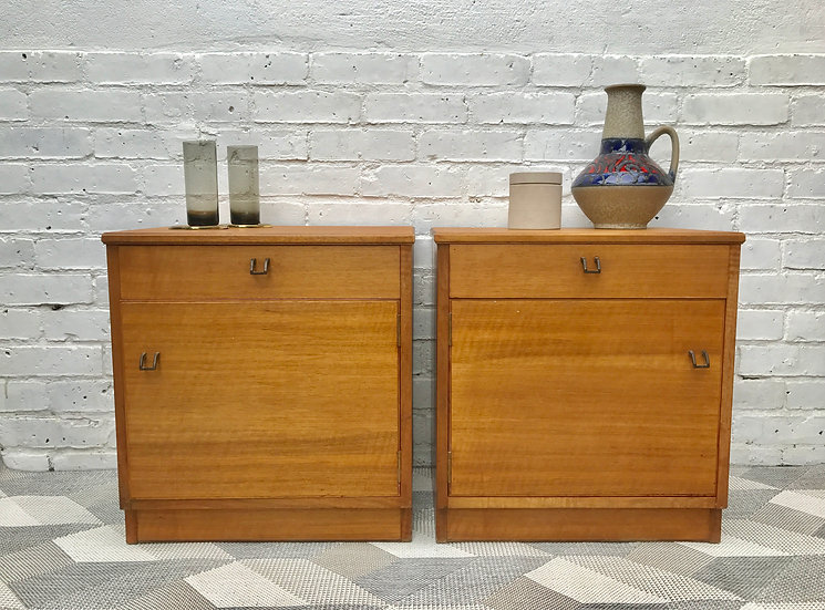 Pair of Vintage Alfred Cox Bedside Tables #411