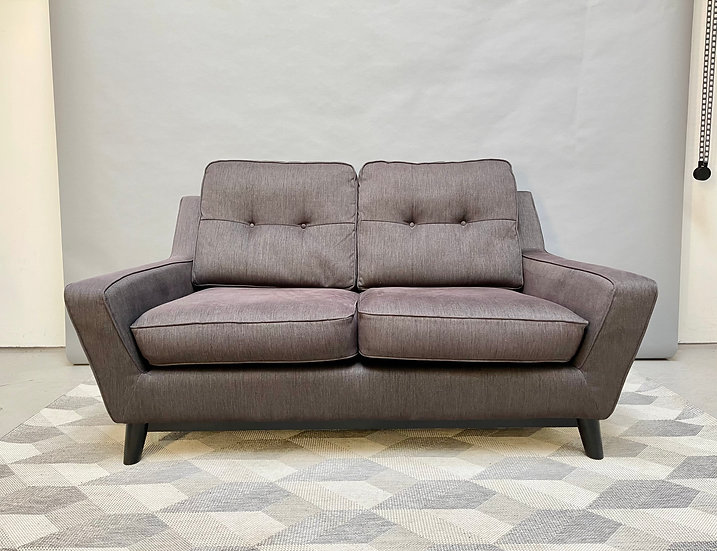 G Plan 2 Seater Sofa, The Fifty Three, Grey front
