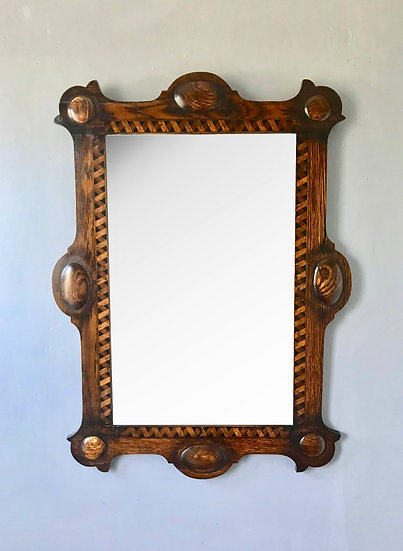 Arts and Crafts Wall Mirror Wooden #717