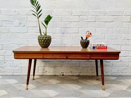 Vintage Coffee Table with Drawer  style