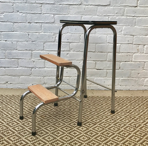 Vintage Folding Step Ladder Stool #201