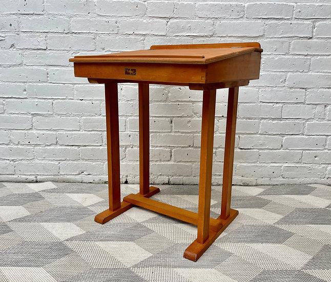 Vintage Wooden Kid's School Desk Lift up Lid