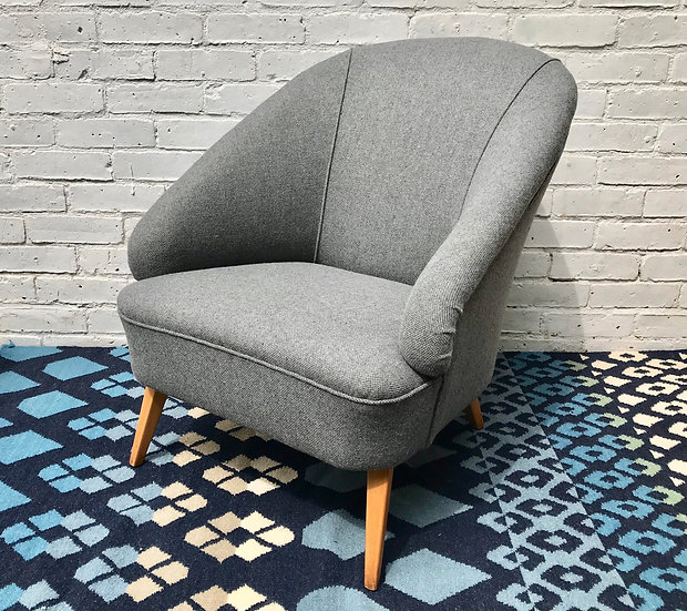 Vintage Tub Chair Armchair Grey Bute #572