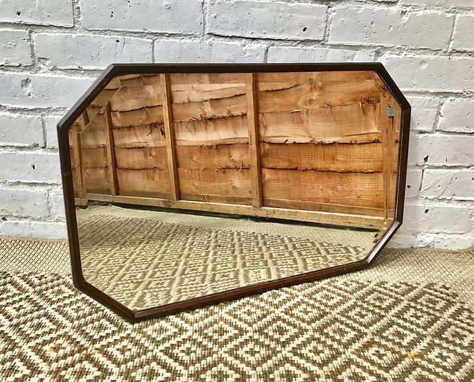 Art Deco Vintage Hexagonal Mirror #367