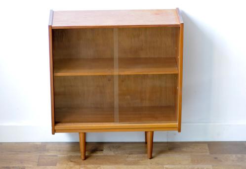 Vintage Bookshelf With Sliding Glass Doors