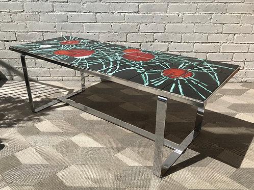 Vintage Retro Tile Coffee Table Chrome #750