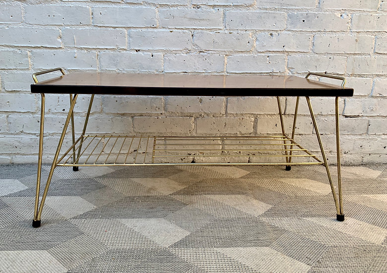 Vintage Coffee Table With Shelf Formica #990