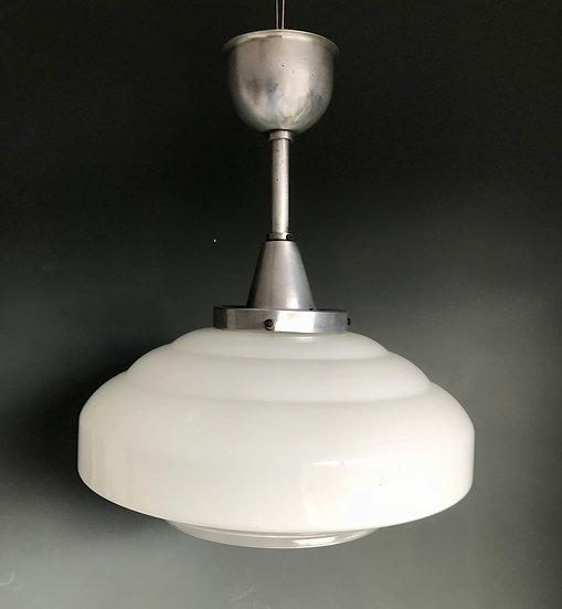 Vintage Industrial Art Deco Pendant Light #629