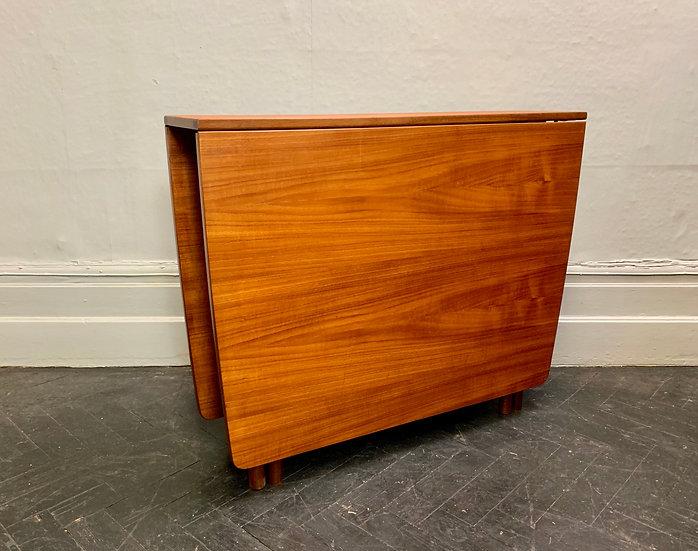 Vintage Folding Gateleg Dining Table Teak #D53