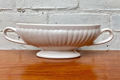 Vintage  White Mantelpiece Vase #D483