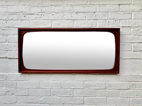 Vintage Wall Mirror Rectangular Teak Frame