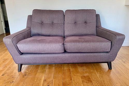 G Plan 2 Seater Sofa, The Fifty Three, Grey Aubergine #D446