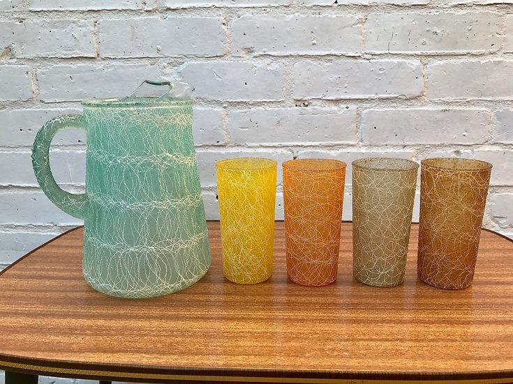 1950s GLASS AND JUG SET