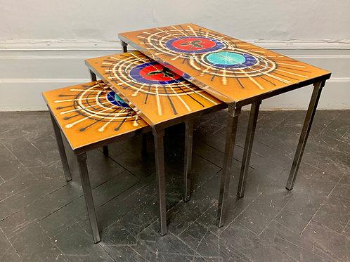 Vintage Nest of Tiled Tables by Juliette Belarti #D113