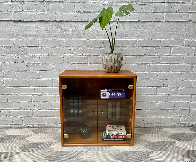 Vintage Danish Teak Glass Cabinet style