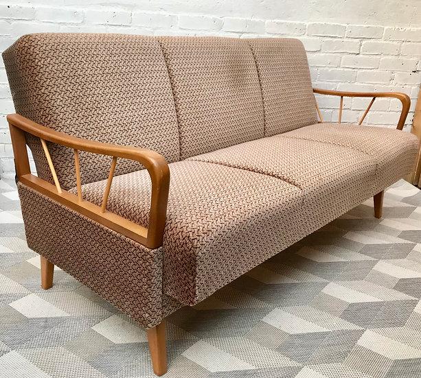 Vintage 2 Seater Sofa Bed Settee - German #530