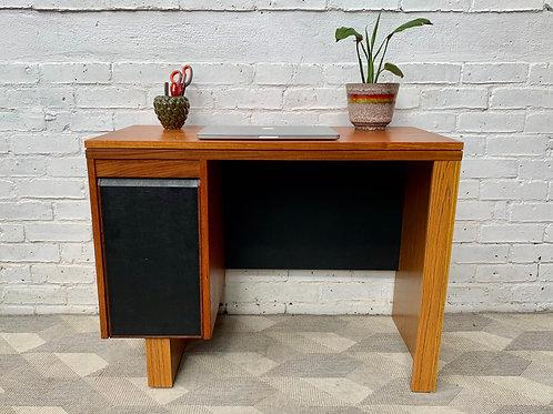 Vintage Wooden Desk with Drawers #D344