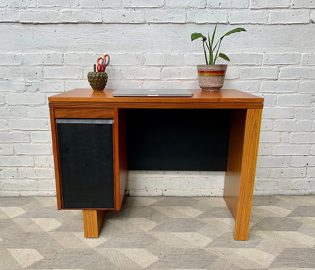 Vintage Wooden Desk with Drawers #D344