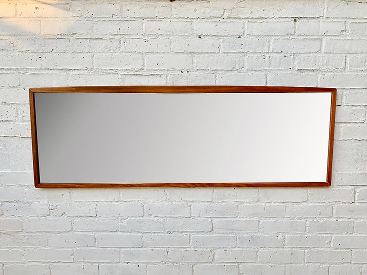 Large Rectangular Teak Mirror Landscape #875
