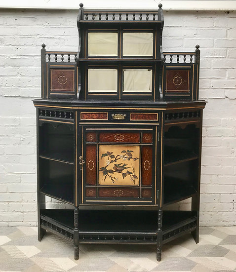 Victorian Display Cabinet Highboard Chinoiserie #636