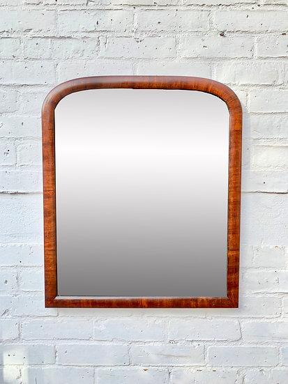 Vintage Antique Wall Mirror Mahogany Frame #D241