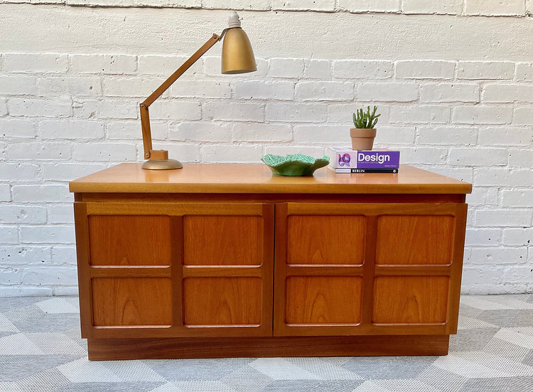 Vintage TV Cabinet Stand Sideboard by Nathan Parker Knoll front