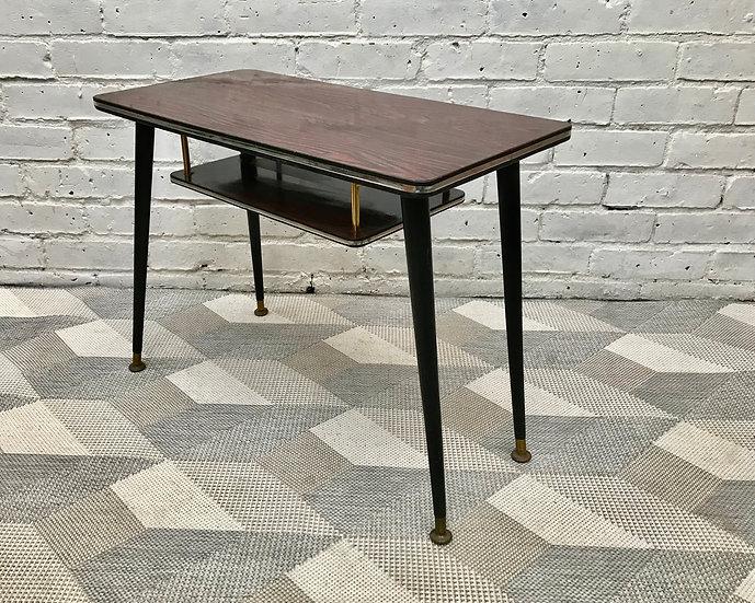 Vintage Retro Small Side Coffee Table Lower Shelf #535