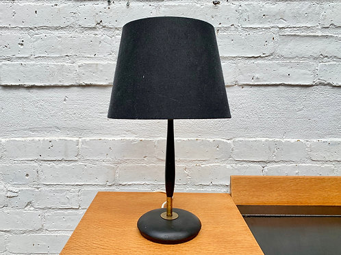 Vintage Table Lamp Desk Lamp Wood Brass #965