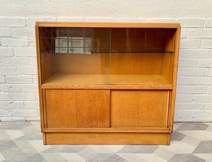 Vintage G Plan Bookcase Glass Cabinet Teak #D509