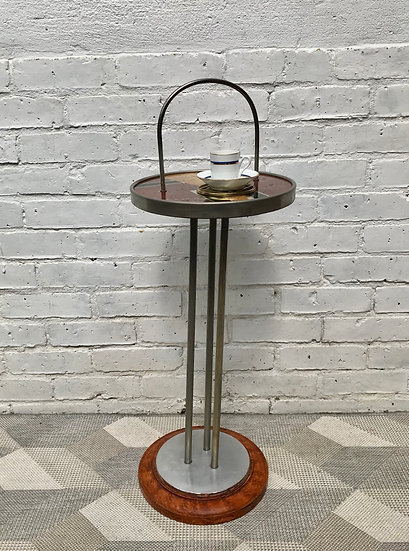 Round Art Deco Side Table Vintage Small #676