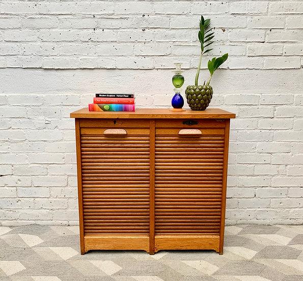Vintage Filing Cabinet Tambour Haberdashery front
