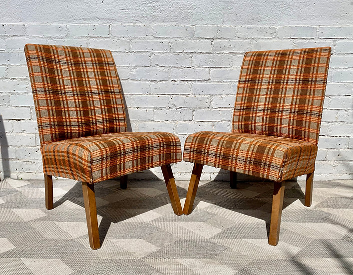Pair of Vintage Side Chairs for re upholstery #653