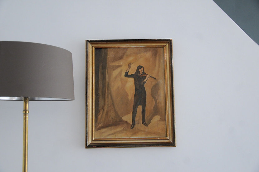 OIL PAINTING OF PAGANINI