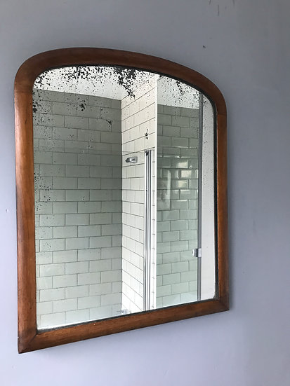 Victorian Wall Mirror With Wood Frame #358