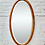 Thumbnail: Large Oval Bevelled Mirror Wood Frame #D239