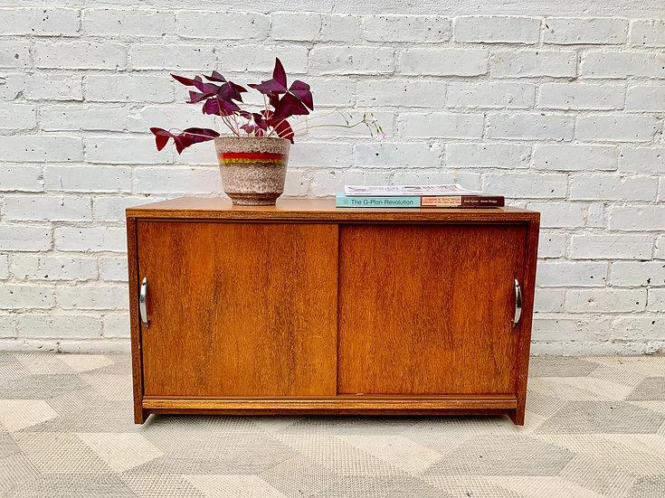 Vintage Record Cabinet Storage Cupboard