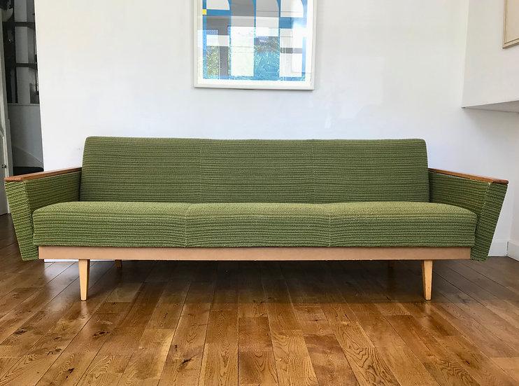 Vintage Retro Sofa Bed Settee - Green #742